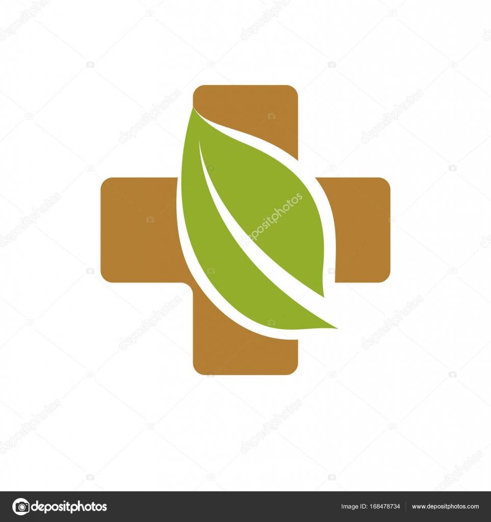 Cristianismo Cruz compuesta con hojas de color verde — Archivo ...