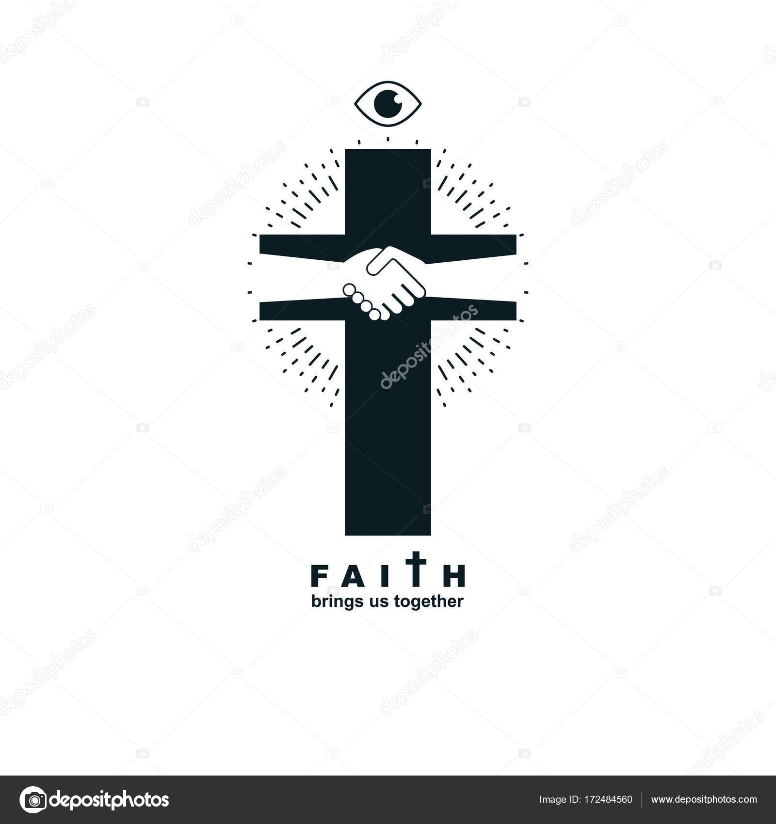 Christianity Cross Symbol Stock Vector Ostapius 172484560