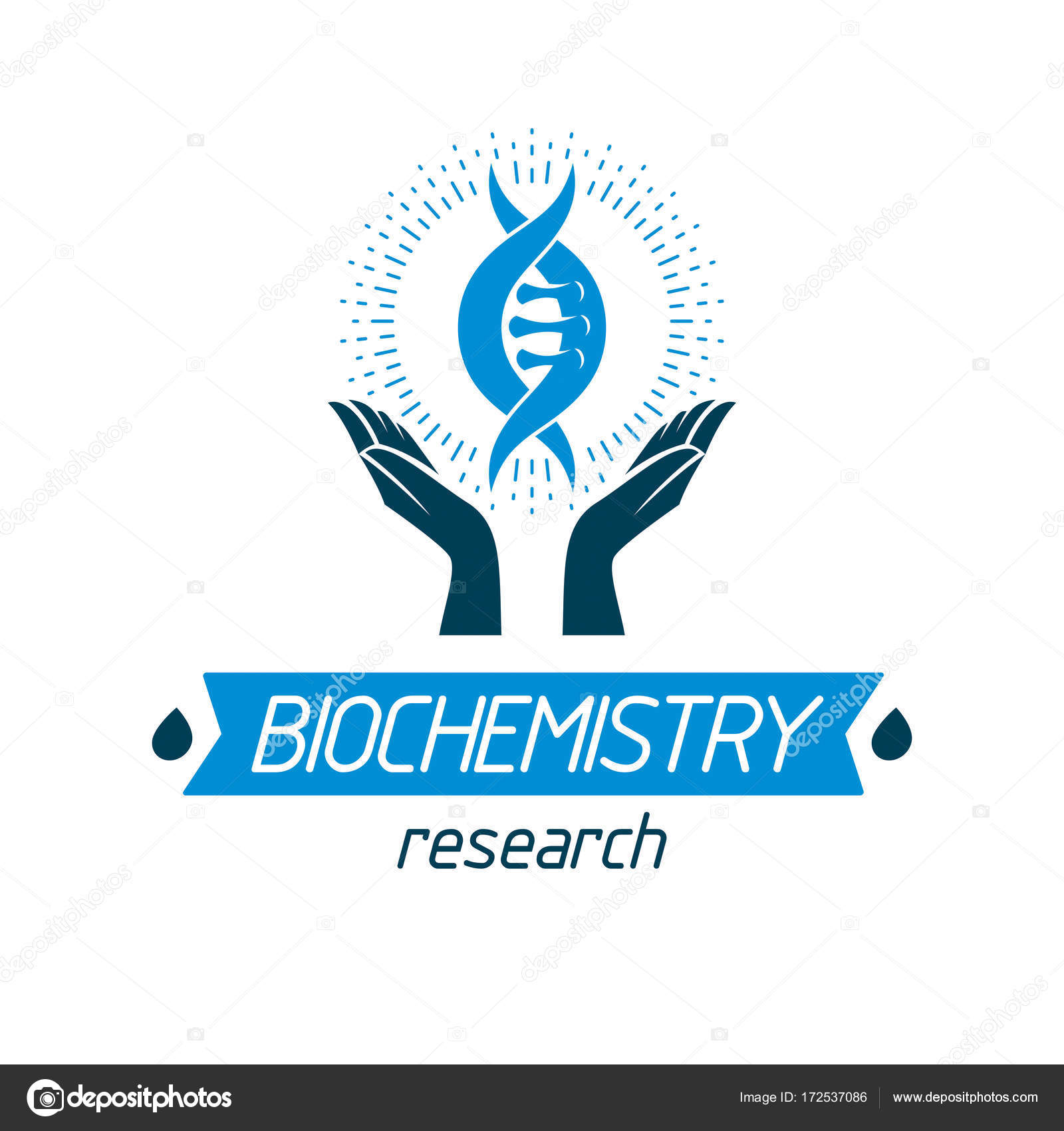 Hands Hold Model Of Human Dna Stock Vector Ostapius 172537086
