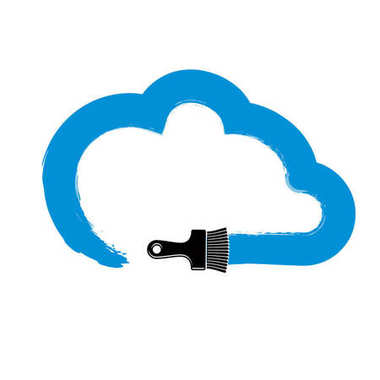 Vector simple cloud drawn with painting brush, meteorology cloud sign created with inky brushstrokes. clip art vector