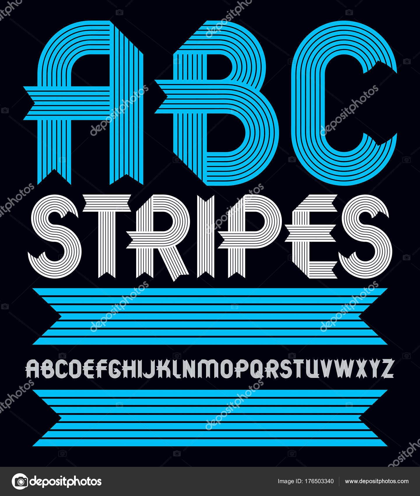 Abc Creation pour set trendy vector capital alphabet letters abc isolated geometric