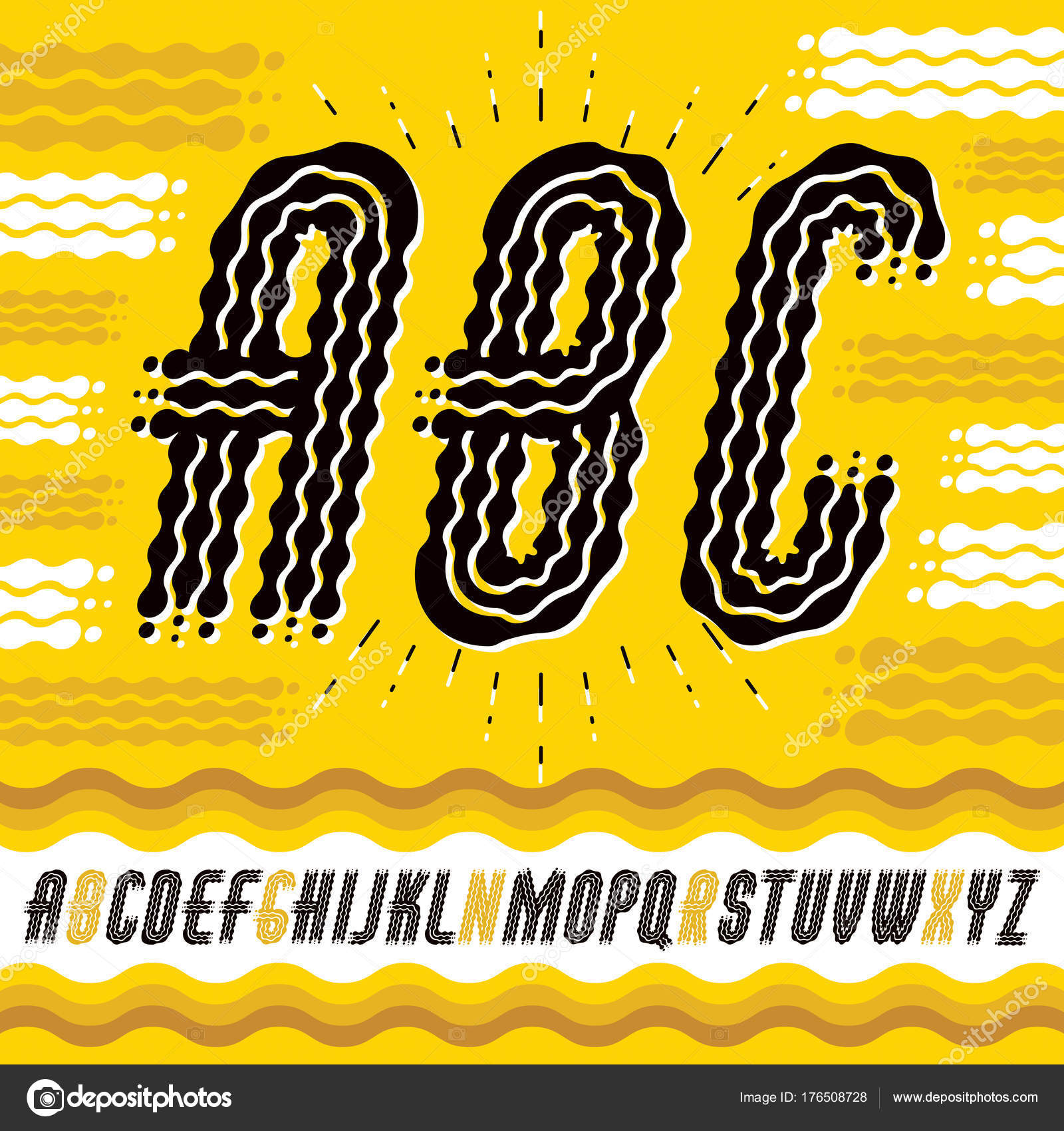 Abc Creation concernant vector upper case modern pop alphabet letters abc set rounded