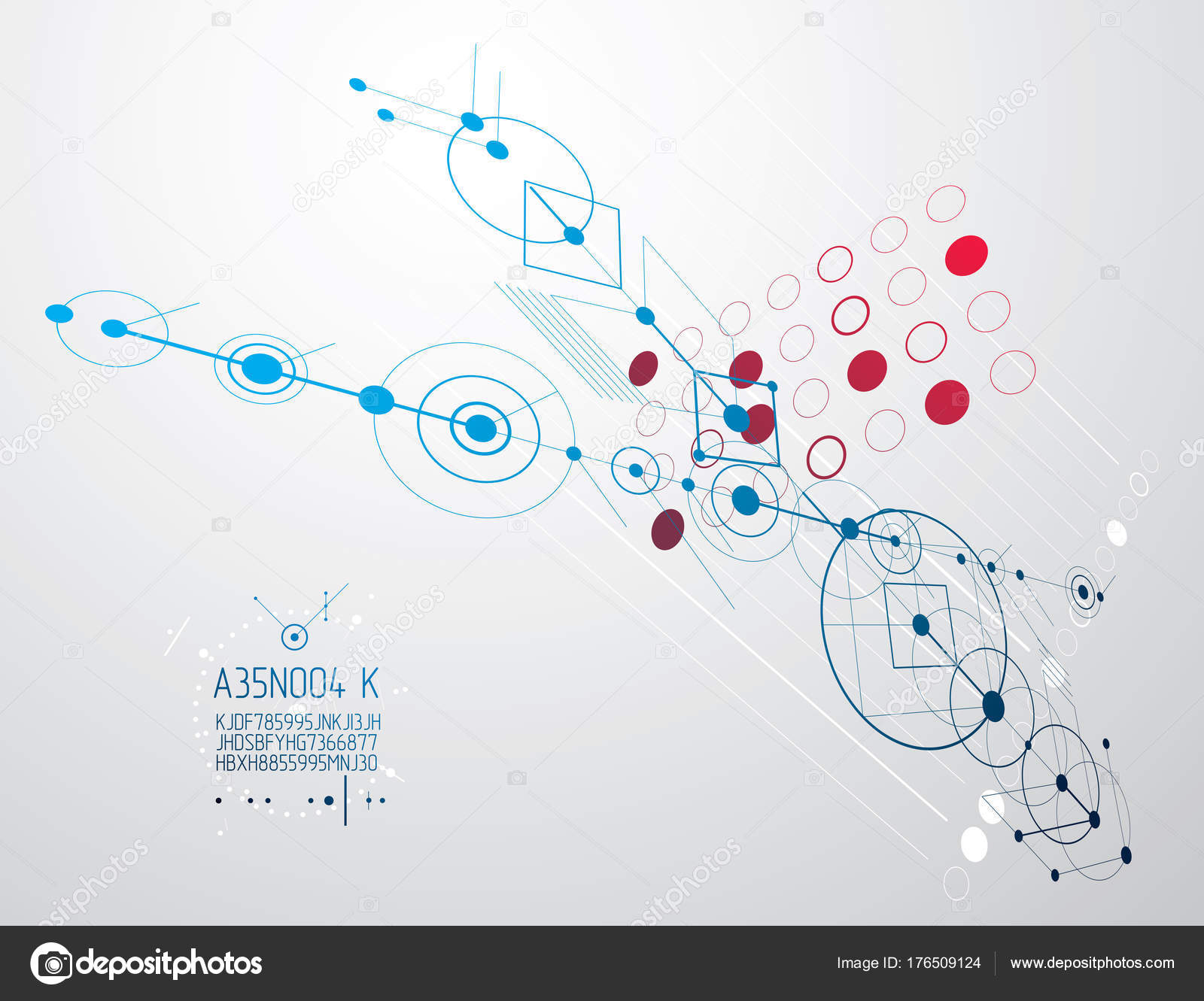 Engineering technology vector wallpaper made circles lines technical drawing abstract stock vector 176509124
