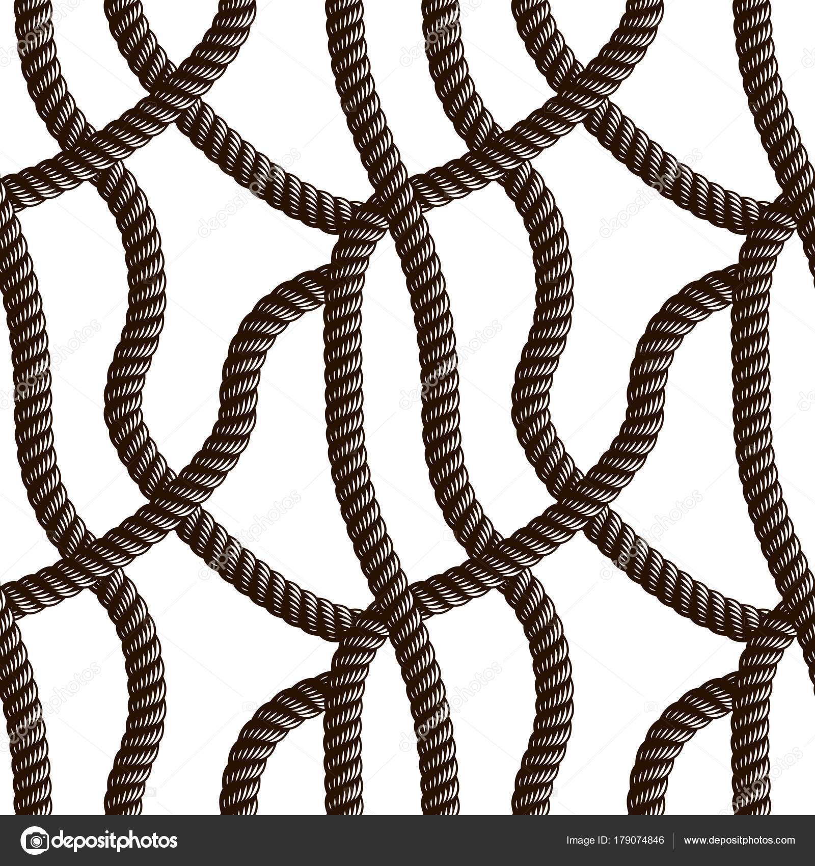 Superior Rope Seamless Pattern Trendy Vector Wallpaper Background Tangled Cord  Stylish U2014 Stock Vector