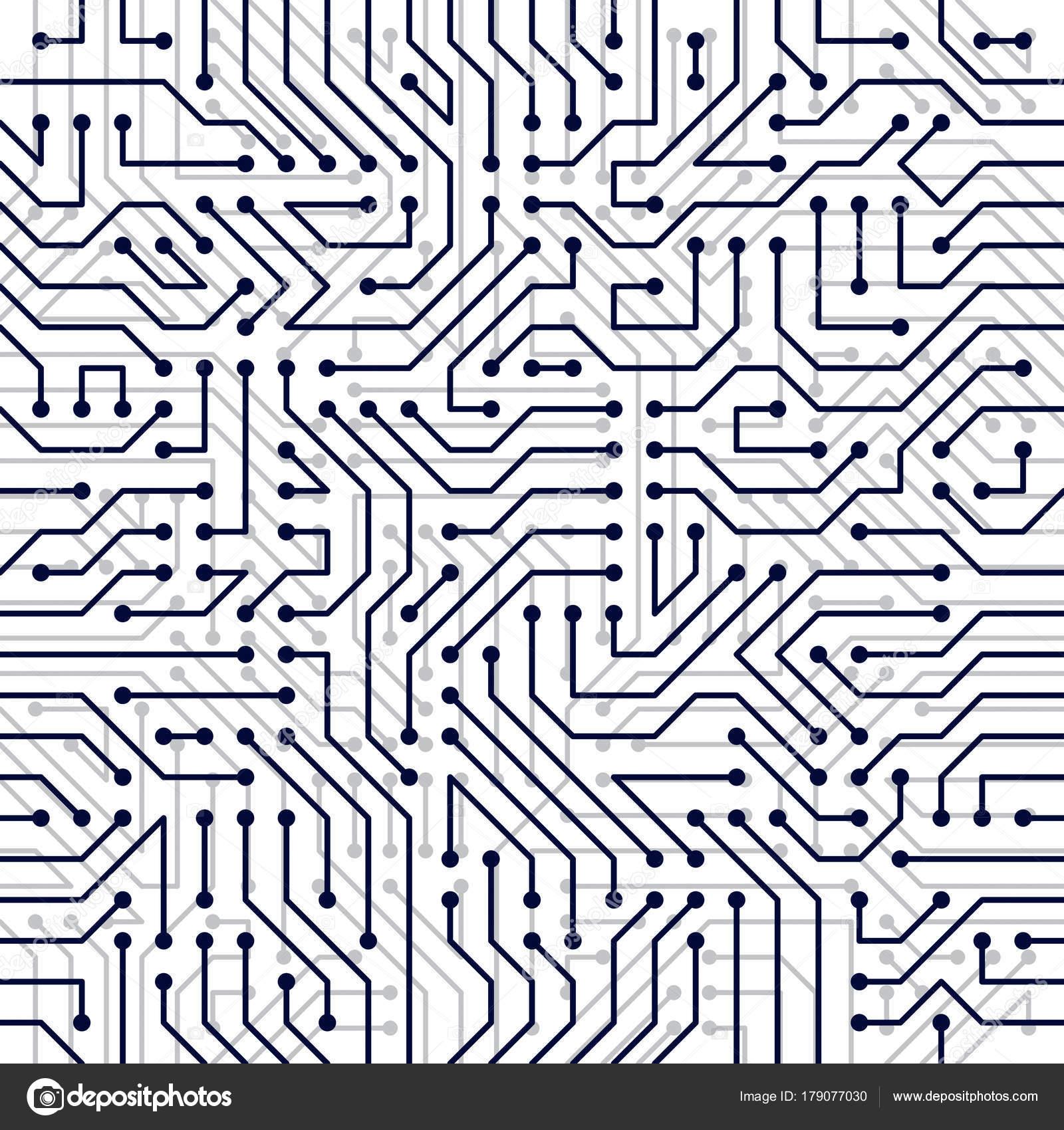 Microchip Board Seamless Pattern Vector Background Circuit Board ...