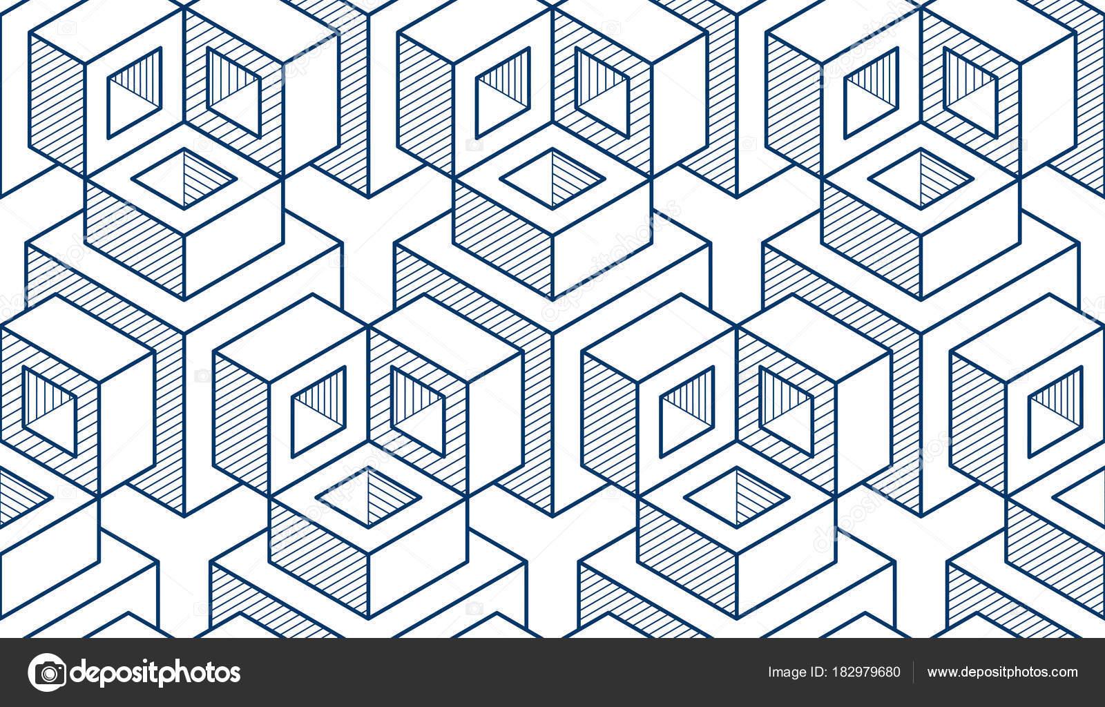 Dibujos Abstractos Con Figuras Geometricas Para Colorear Cubos