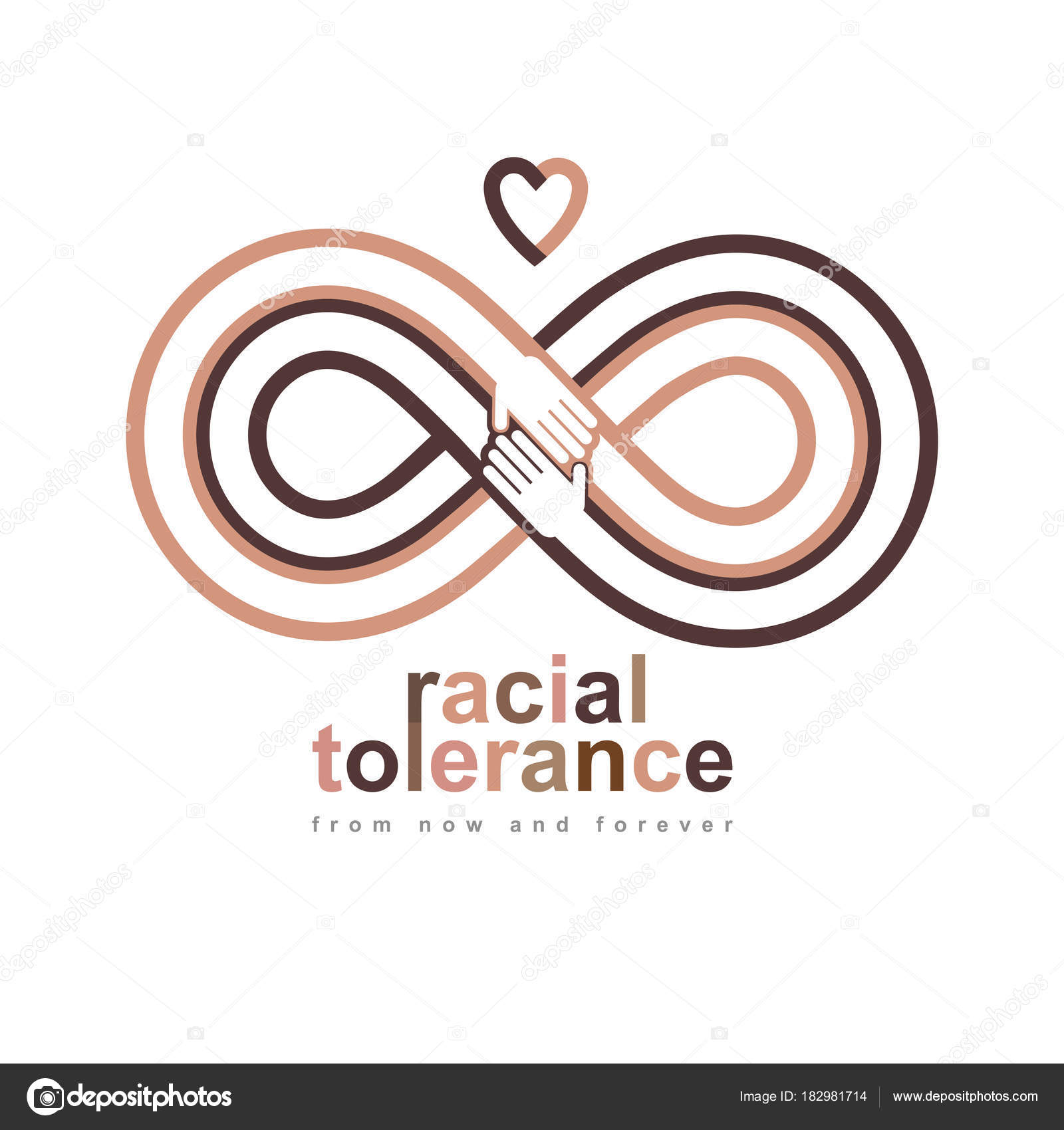 Racial tolerance conceptual symbol martin luther king day zero racial tolerance conceptual symbol martin luther king day zero tolerance vector symbol created with infinity loop sign and two hands of people of biocorpaavc Image collections