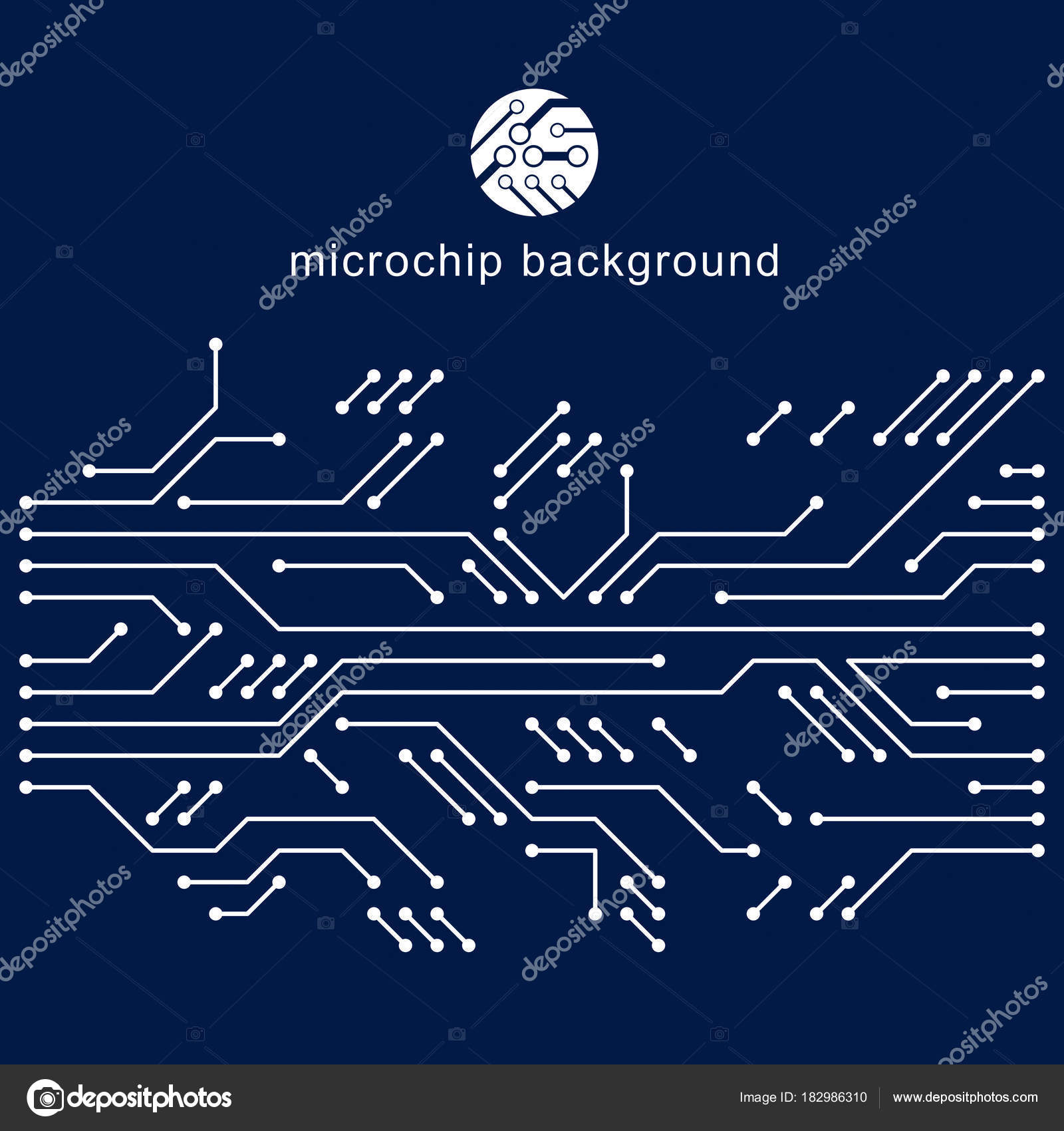 Vector Circuit Board Digital Technologies Abstraction Computer Background With Place For Text Microprocessor Scheme Futuristic Design Abstract
