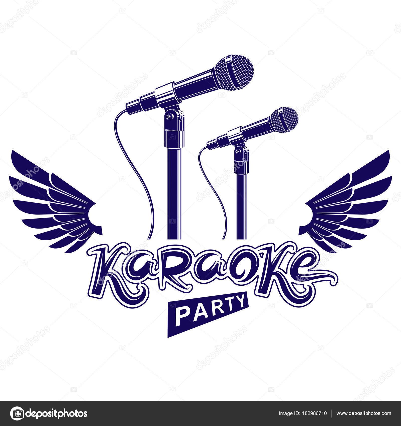 Karaoke Party Werbeplakat Live Musik Vektor Konzert Broschüre ...