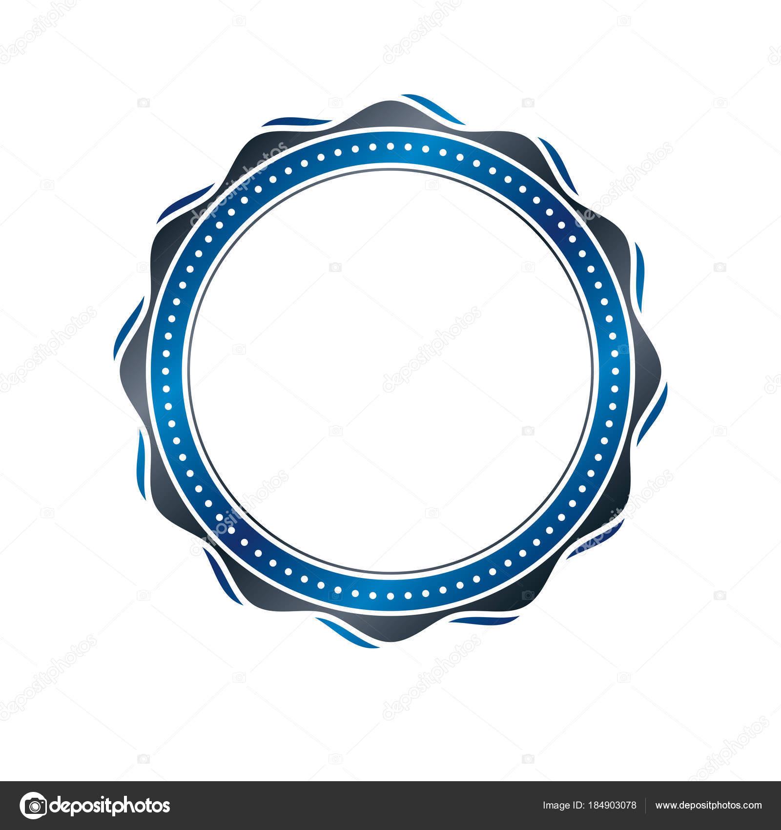 Premio Vintage Marco Circular Con Espacio Copia Claro Como Diseño ...