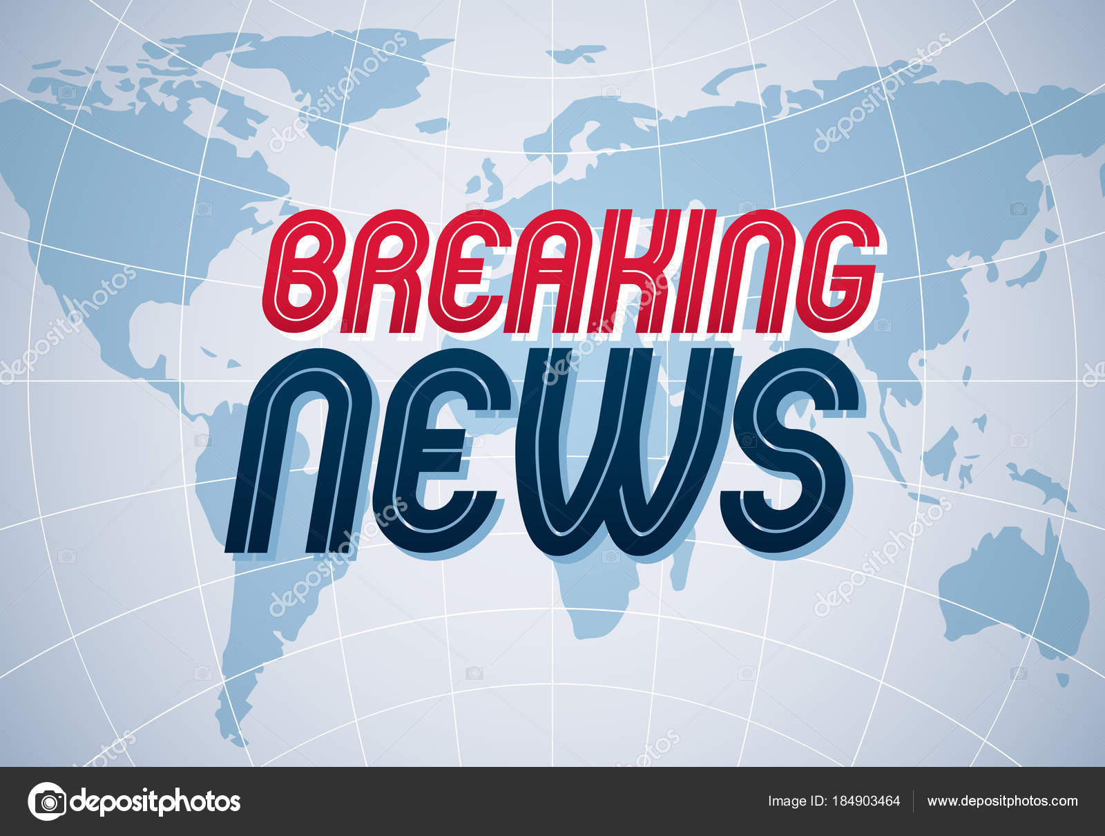 Breaking News Vector Background World News Internet Channel