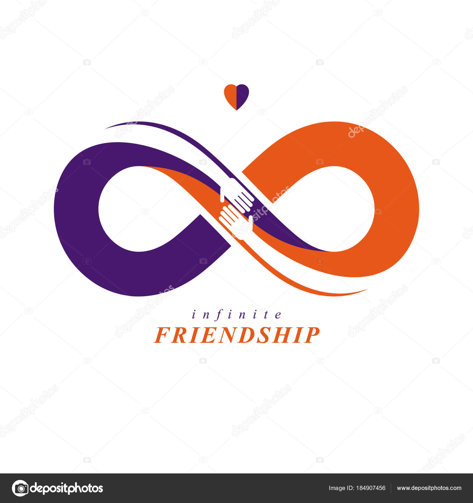 Infinity Sign Two Hands Touching Each Other Infinite Friendship