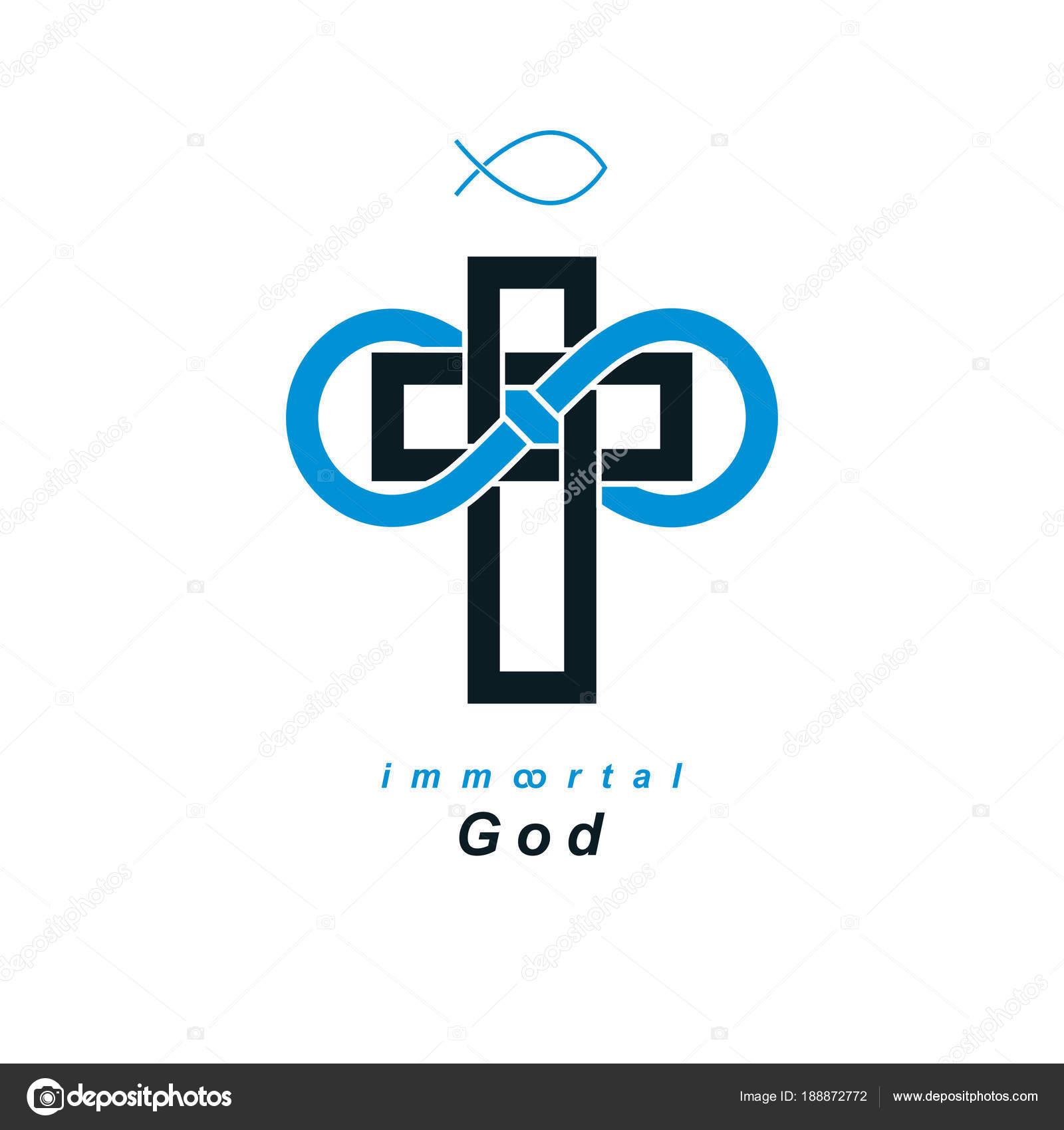 True Infinite Christian Belief God Symbol White Background Stock