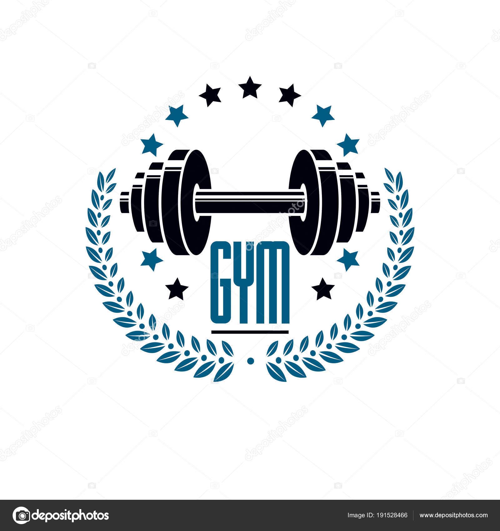 Bodybuilding Gewichtheben Fitness Logo Sport Vorlage Retro Stil ...