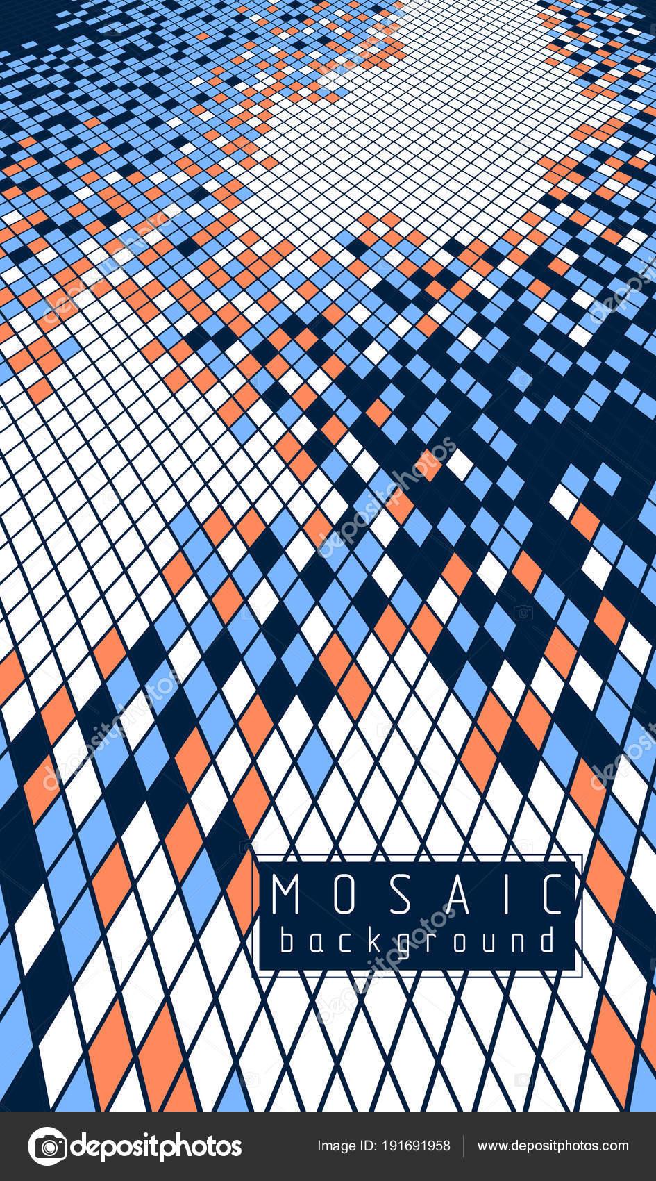 Abstrakte Mosaik Quadratischen Fliesen Design — Stockvektor ...