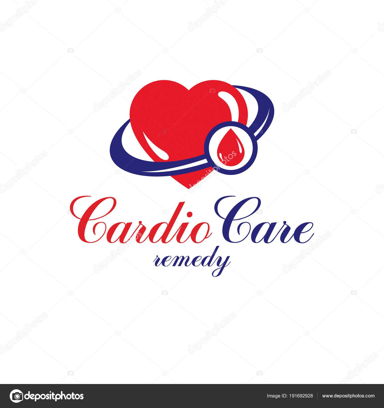 Herz Kreislauf System Krankheiten Prävention Konzeptionelle Logo ...