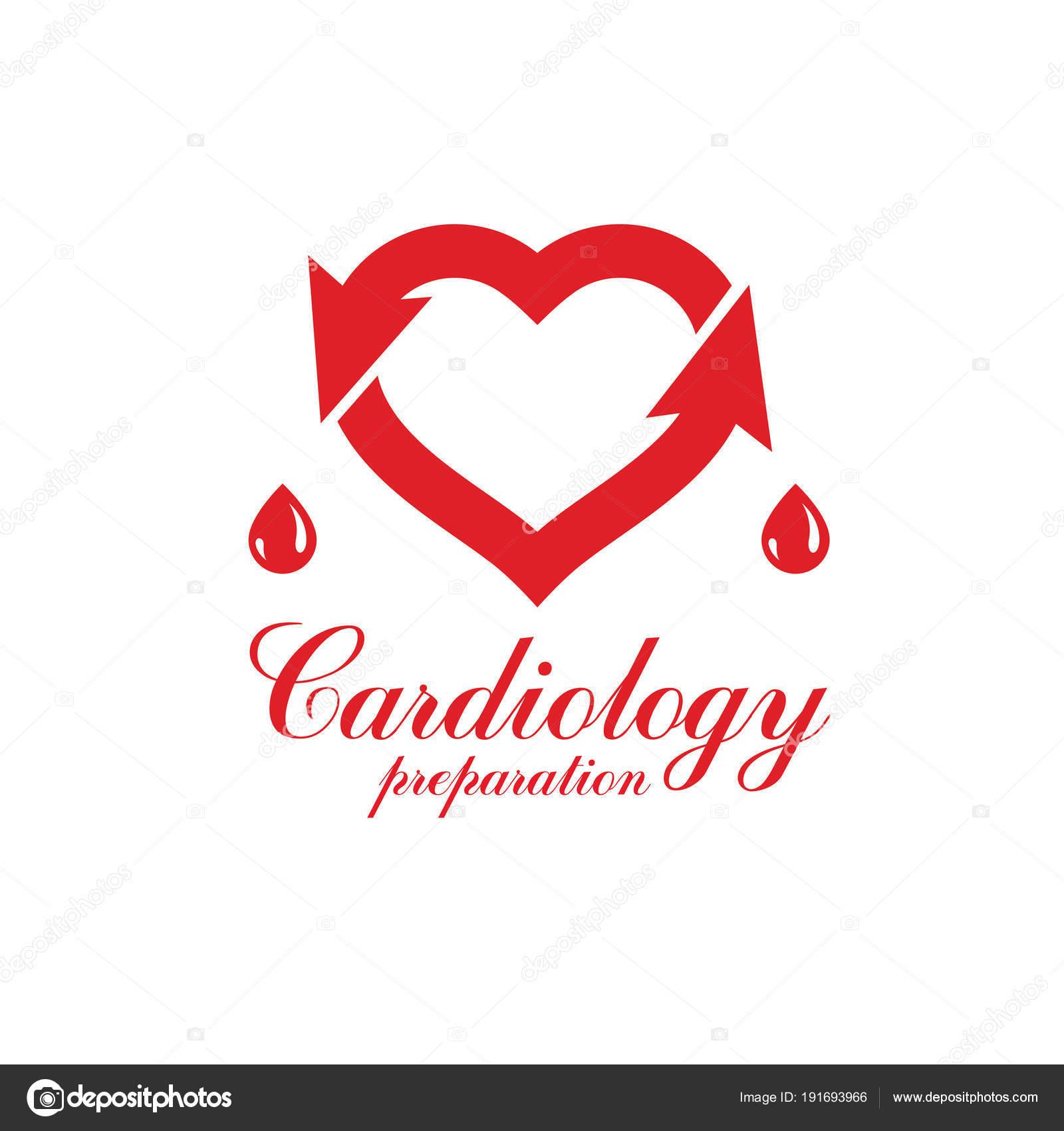 Herz Kreislauf System Erkrankungen Behandlung Logo — Stockvektor ...