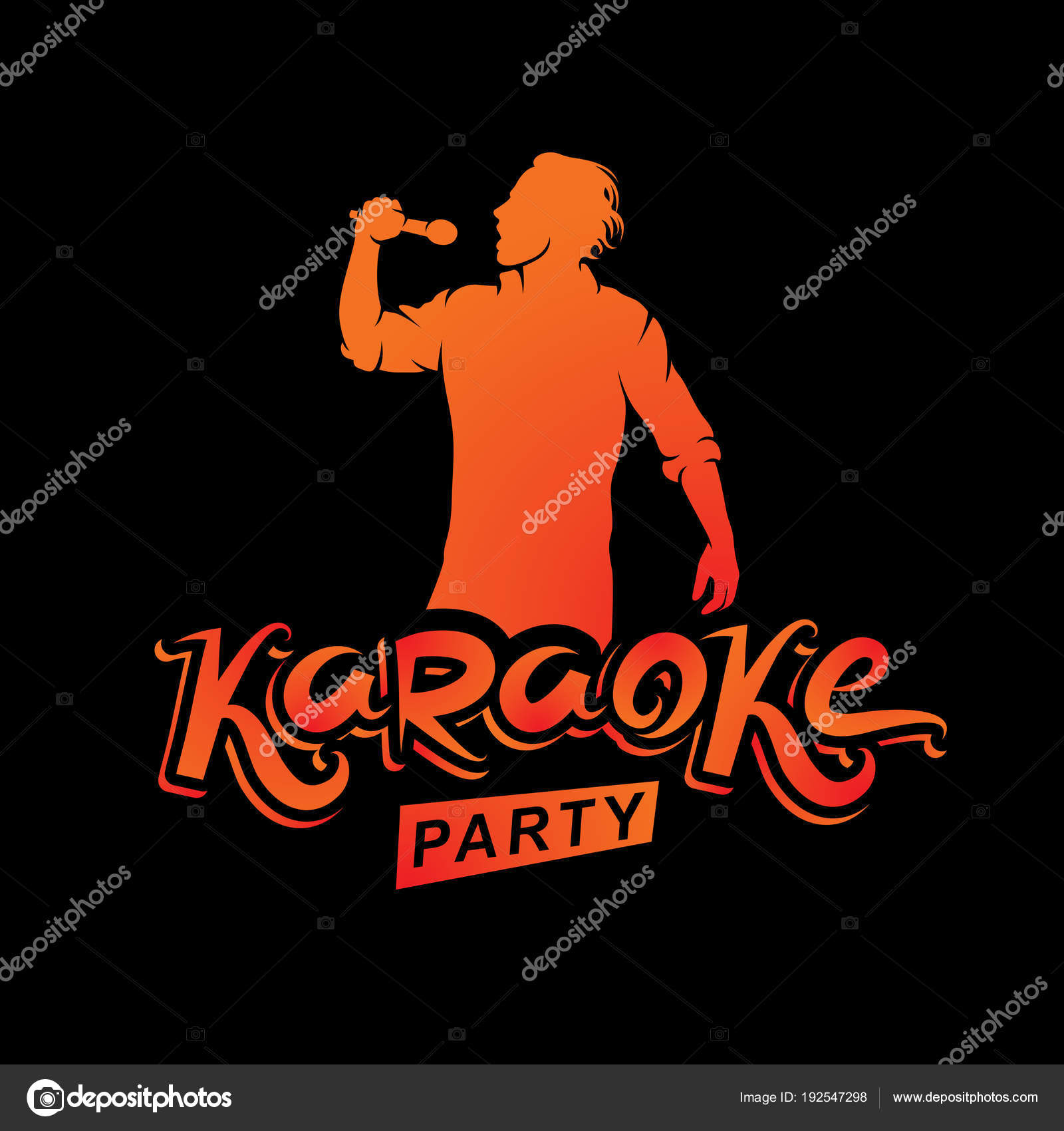 Karaoke Party Invitation Poster Black Background — Stock Vector ...