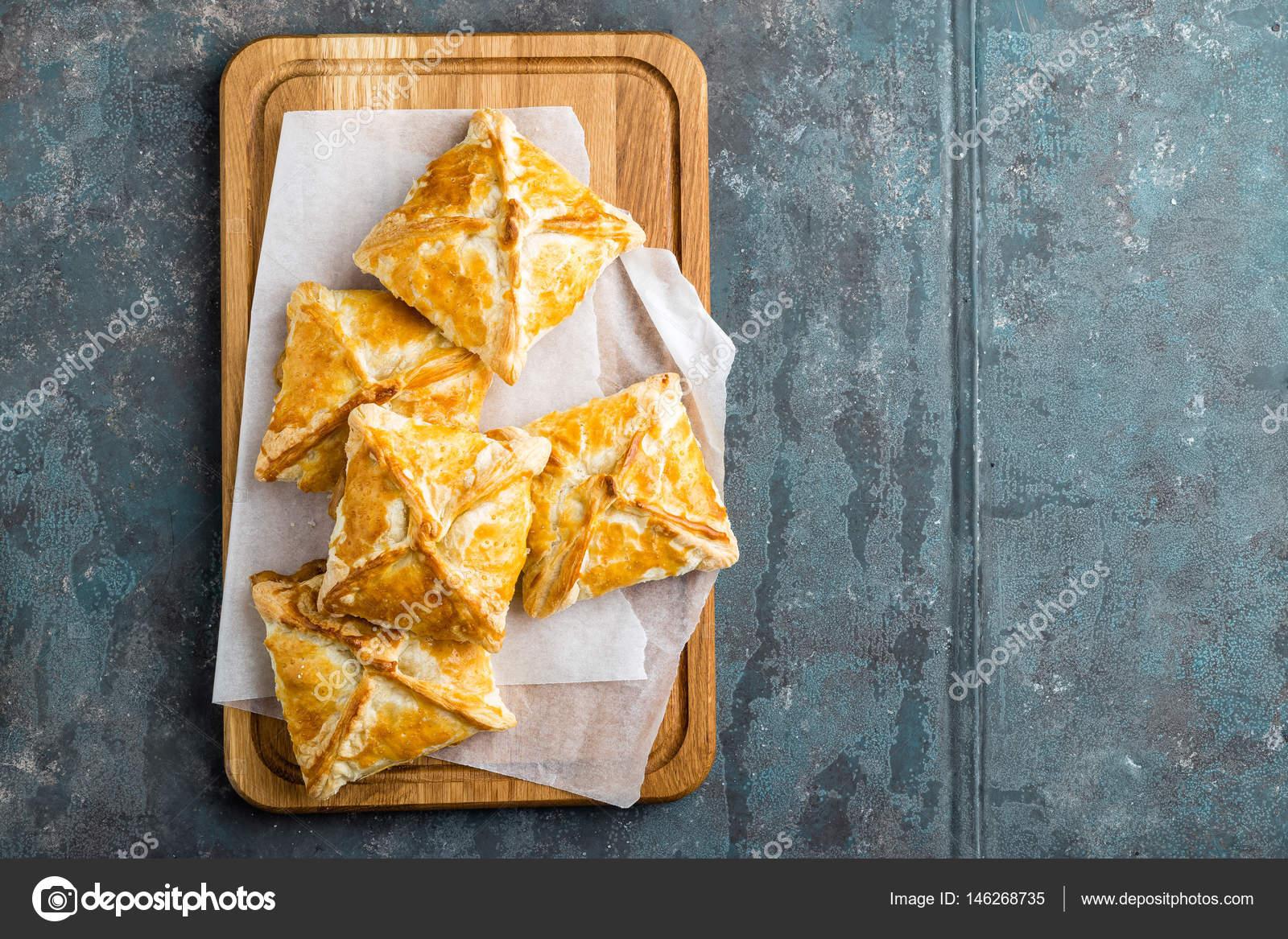 Knuspriger Blatterteig Kuchen Hausgemachte Backen Ansicht Von Oben