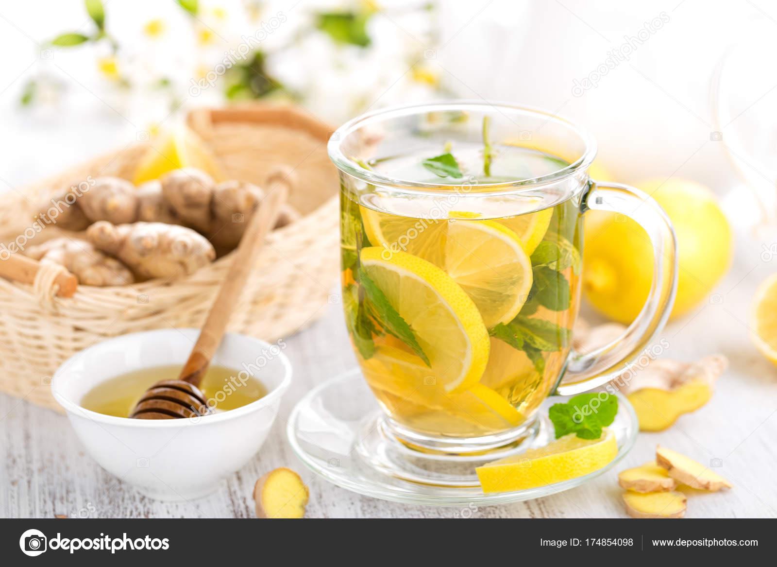 Фото чай с лимоном