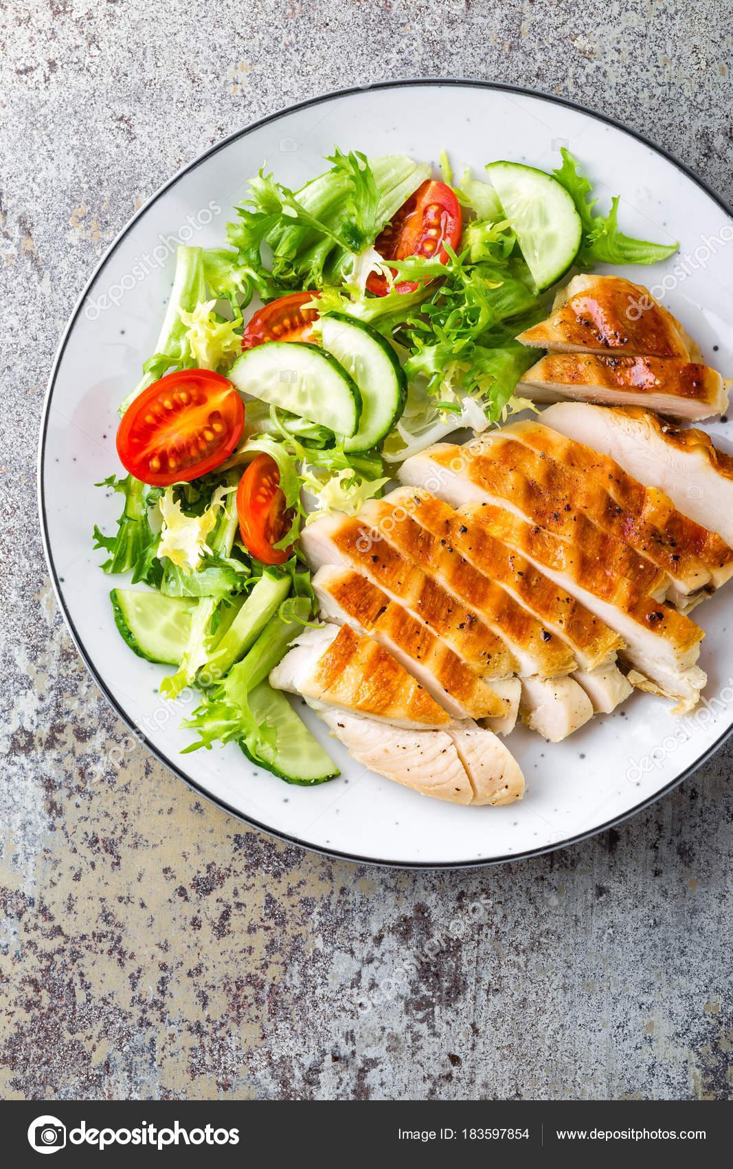 ensaladas de dieta con pollo