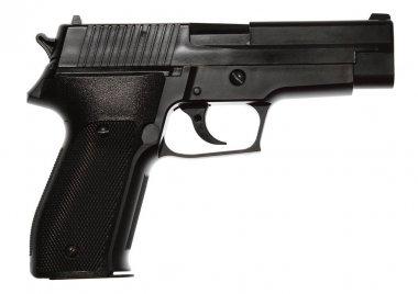Handgun isolated on plain background stock vector