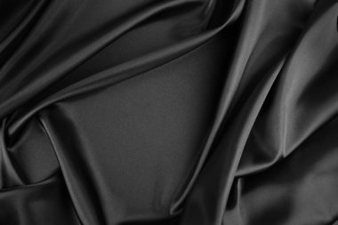 Rippled silk fabric
