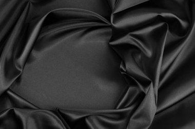 Black silk fabric