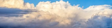 Fluffy clouds sky
