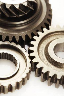 Three steel gears