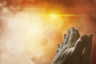 Hands together praying