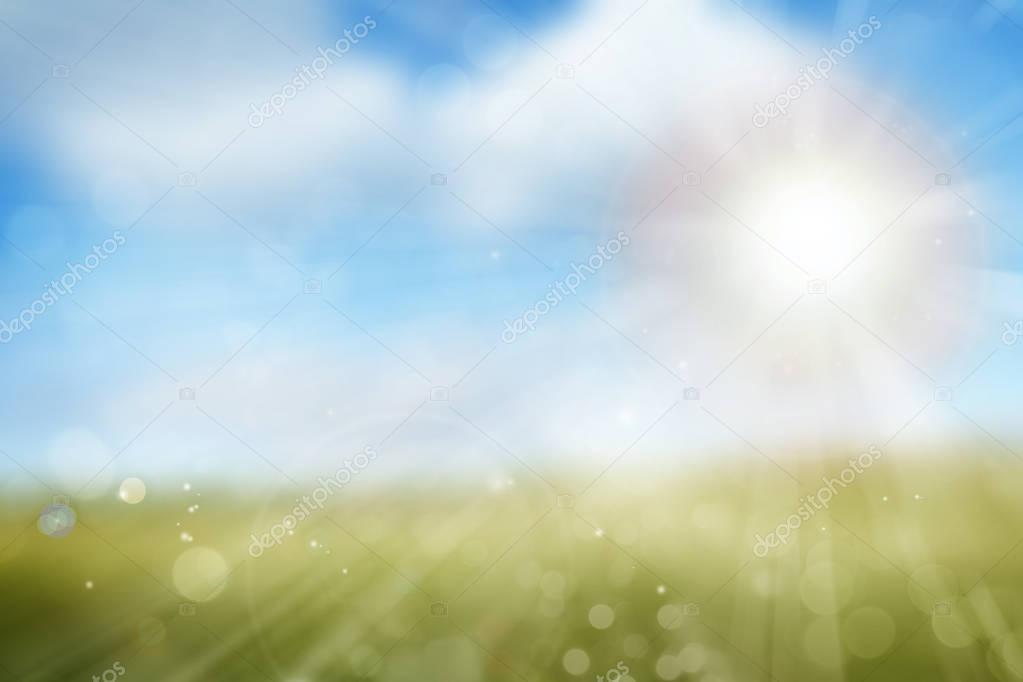 Spring sunlight background