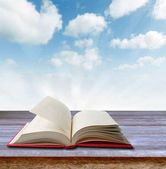 Open book and sky