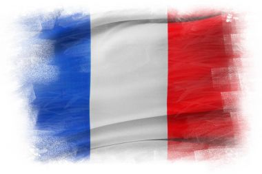 Painterly French flag
