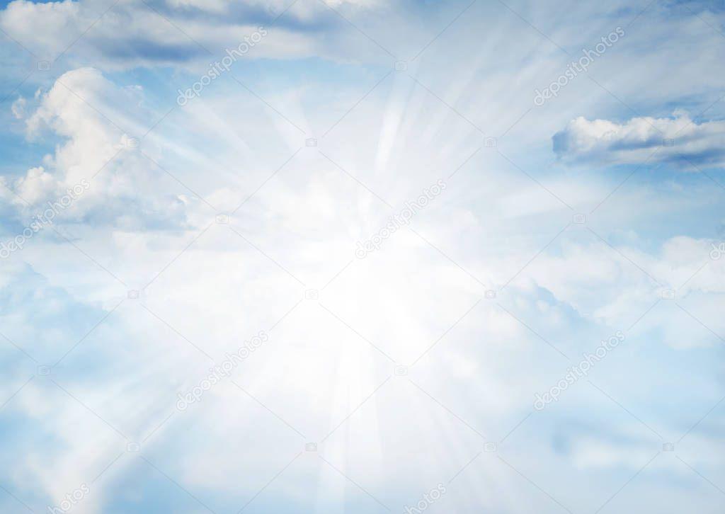 Rays in sky