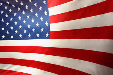 USA flag. Stars and stripes