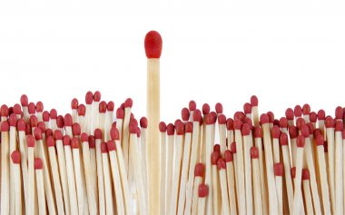 Matches, one standing out