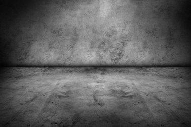 Empty floor and blank wall stock vector