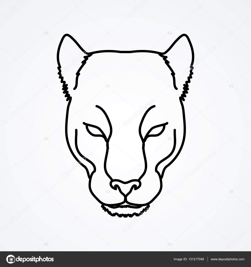 cuerno gene ganar  ᐈ Puma de caricatura imágenes de stock, dibujos panteras para colorear |  descargar en Depositphotos®