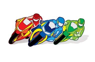 Motorcycles racing graphic vector