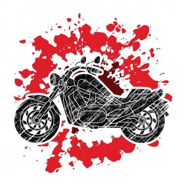 Motorbike side view