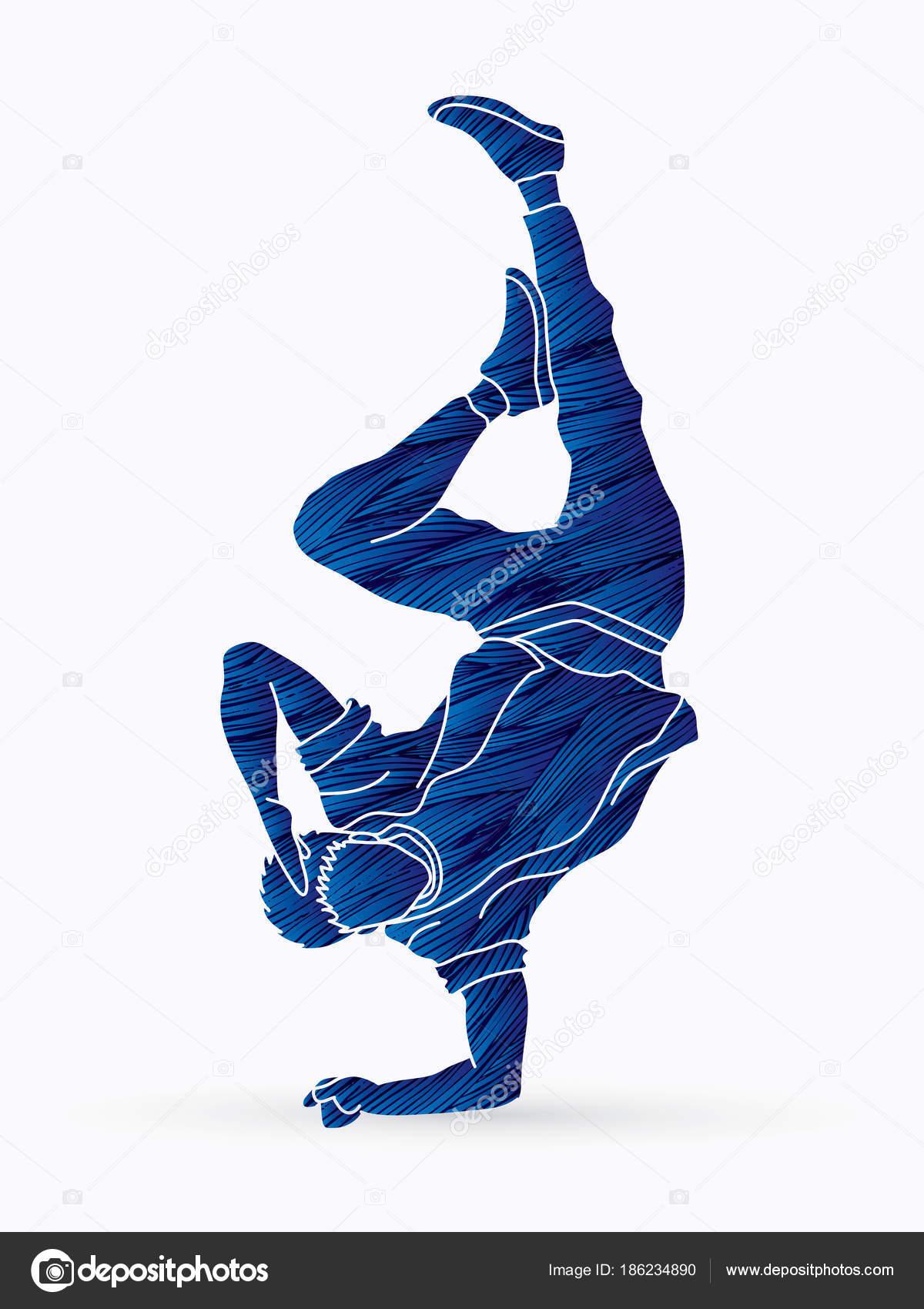 Bailarín Acción Boy Dance Hip Hop Street Dance Diseñado Usando ...
