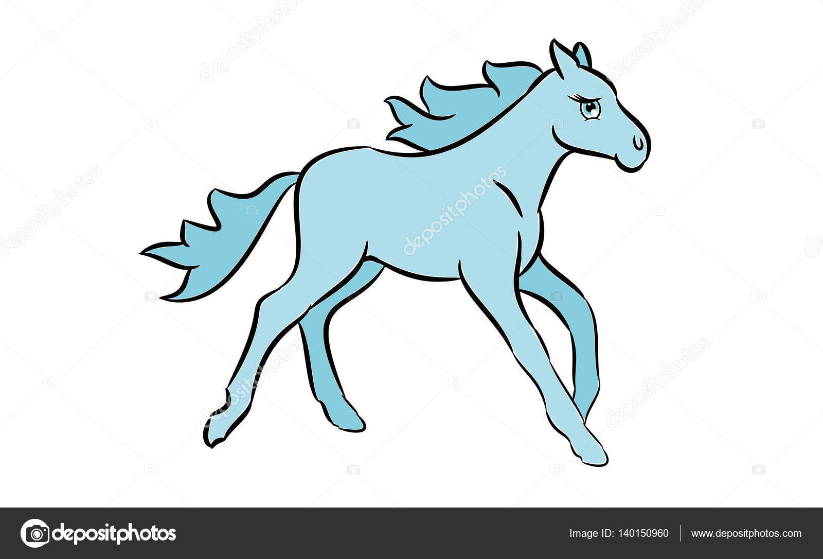 Cute Horse Drawing Cute Horse Drawing Stock Vector C Aberheide 140150960