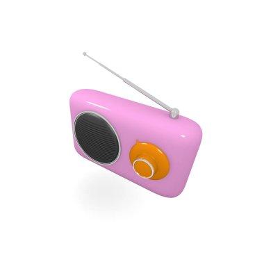 Pink radio vintage style