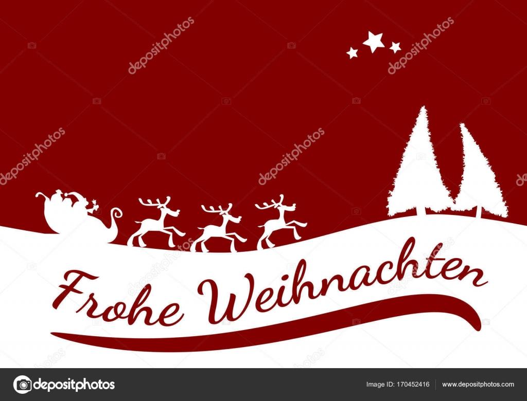 Deutsch Frohe Weihnachten Karte Stockvektor C Aberheide