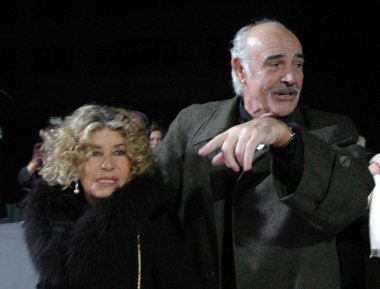 Sean Connery with his wife