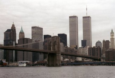 skyline of Manhattan with the Twin Towers