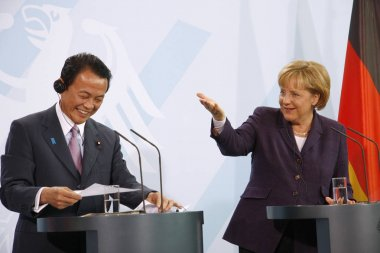 Chancellor Angela Merkel, Japanese Prime Minister Taro Aso