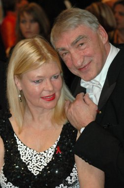 Gottfried John with his wife at the