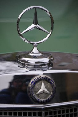 Logo of Mercedes sportscar, Berlin.